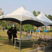台中公園 教會音樂會 服務處白色歐式帳篷 阿里山帳搭設