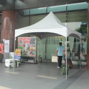台灣啤酒試賣活動 歐式帳篷服務台搭設