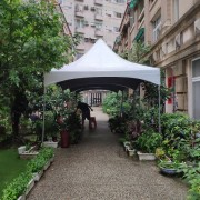 社區活動 白色歐式帳篷搭設