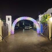 露營區 生日派對 氣球拱門 打光用燈光組 出租搭設