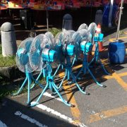 慶讚蘭盆祈安普渡法會 帳篷散熱用 18吋風扇 出租運送