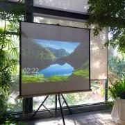 千樺庭園餐廳婚宴活動 100吋基本型投影布幕 出租搭設