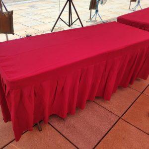 大肚山彈藥分庫中科園區擴建用地 環評說明會 摺疊桌 & 酒紅色桌巾 出租運送