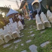 庭園自助餐式婚宴活動 貴賓椅子 香檳金椅套 出租運送