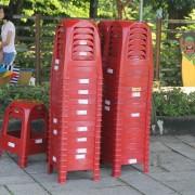 彩虹屋幼兒園 暑期招生活動 紅色塑膠椅出租運送