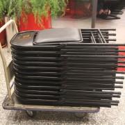 餓坐聚鐵板燒 開幕活動 黑色摺疊椅出租運送 (5)