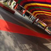 12月24日婚禮 新人進場走道紅色地毯鋪設
