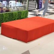 BG Shop台中秀泰店開幕活動 舞台面紅地毯鋪設