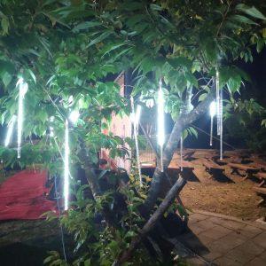 梨山水蜜桃節 營火晚會 樹裝飾用流星燈管(冷白色款) 出租搭設