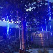 梨山水蜜桃節 營火晚會 樹裝飾用流星燈管(冷藍色款) 出租搭設