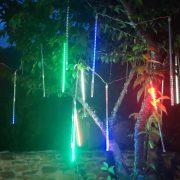 梨山水蜜桃節 營火晚會 樹裝飾用流星燈管(彩色款) 出租搭設 (2)