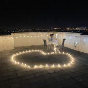 頂樓 燭光晚餐求婚 流星燈 串燈 場地佈置 出租 (3)