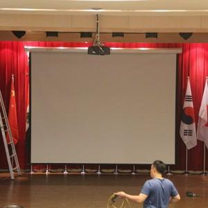 葳格小學招生活動 投影電動式投影布幕