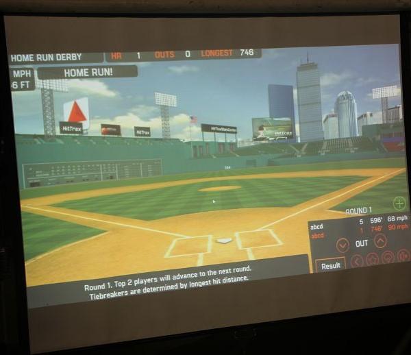 HitTrax Sports 擊創運動 台體大全壘打大賽 投影設備紀錄