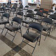 創意台中 火車站展覽活動 黑色摺疊椅 出租搭設 (4)