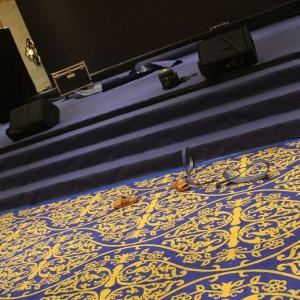 承燕表揚大會 舞台藍色地毯 出租鋪設 (2)