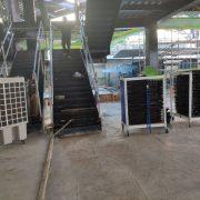 順昇營造 停車空間新建工程 散熱用 水冷扇 黑色摺疊椅出租運送 (11)