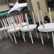 創趣DIY開幕活動 戶外休閒白色塑膠圓桌 出租運送 (3)