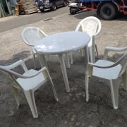 塑膠靠背椅 烤肉椅 圓桌 出租運送 (2)