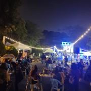 安平愛鄰協會 聖誕草地音樂會 Bright Light 草地野餐區 LED裝飾串燈 白色休閒桌椅組 出租搭設 (12)