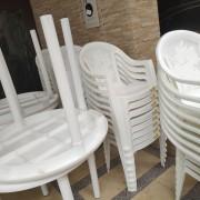 展旺新天地 社區餐會活動 白色休閒塑膠桌椅組 出租運送 (4)