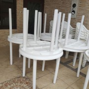 展旺新天地 社區餐會活動 白色塑圓桌椅組 出租運送 (6)