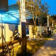 戶外婚禮裝飾用燈組搭設 (2)