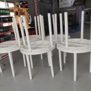 昭和汽車 開幕活動 Buffet自助餐會餐桌椅 塑膠圓桌 塑膠靠背椅組出租運送 (1)