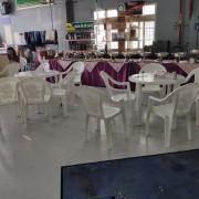 昭和汽車 開幕活動 Buffet自助餐會餐桌椅 塑膠圓桌 塑膠靠背椅組出租運送 (5)
