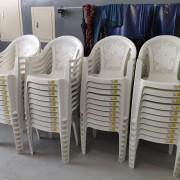 昭和汽車 開幕活動 Buffet自助餐會餐桌椅 塑膠靠背椅組出租運送 (2)