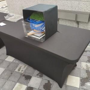 大里光正家聚 好鄰茶會 黑色彈力桌巾 出租運送 (7)