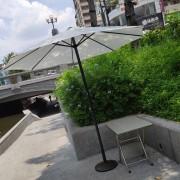 感覺實驗室 綠川小市集 白色陽傘 傘座 出租運送