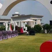 清新溫泉飯店 婚禮 表演區遮陽 洋傘 出租運送