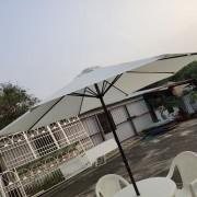 白色9呎戶外休閒桌椅傘組 出租運送 (15)