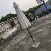 白色9呎戶外休閒桌椅傘組 出租運送 (16)