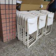 中原大學 卓然果園食果市集活動 白色摺疊桌椅 出租運送 (9)