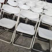 白色摺疊椅 出租運送 (2)