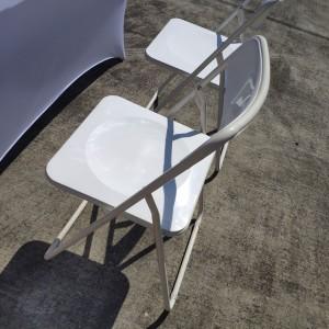 白色摺疊椅 & 摺疊桌 & 白色彈力桌套 出租運送 (1)