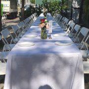 鹽與胡椒餐館 5月3日 戶外婚宴活動 摺疊桌 白色摺疊椅 出租運送 (12)