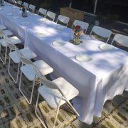 鹽與胡椒餐館 5月3日 戶外婚宴活動 摺疊桌 白色摺疊椅 出租運送 (3)