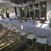 鹽與胡椒餐館 5月3日 戶外婚宴活動 摺疊桌 白色摺疊椅 出租運送 (5)