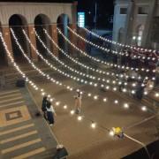 中興大學 禮堂廣場求婚活動 婚禮場地佈置串燈 出租搭設 (8)