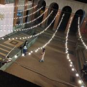 中興大學 禮堂廣場求婚活動 婚禮場地佈置串燈 出租搭設 (9)