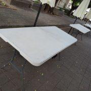 逢甲大學USR成果豐收季 折疊椅 摺疊桌 休閒陽傘 標準舞台 出租搭設 (27)