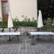 逢甲大學USR成果豐收季 折疊椅 摺疊桌 休閒陽傘 標準舞台 出租搭設 (32)