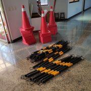 彰化特殊教育 學校整修施工 安全隔離用 交通錐 出租月租 (21)