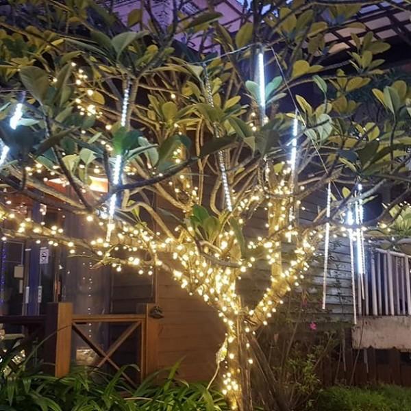國碩電子遊戲場 聖誕節活動 樹裝飾小彩燈 網燈 流星燈 出租施工搭設 (4)