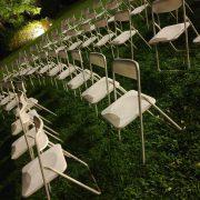 台一渡假村 婚禮活動 白色摺疊椅 出租運送 (26)