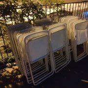 穿梭草悟道 萬聖節活動 白色摺疊椅 出租運送