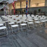 2020創意台中Trendy Midtown 時尚中城 記者會活動 白色摺疊椅 出租運送